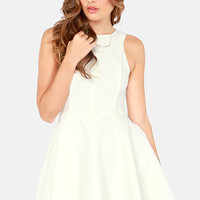 Keepsake Lucky Life Ivory Dress