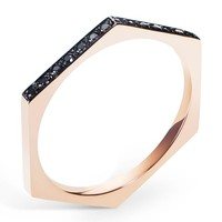 Selin Kent Hex Band in Rose Gold with Two-Sided Black Diamonds at ShopGoldyn.com