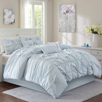 Madison 6-7-Piece Comforter Set in Aqua