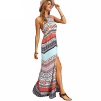 Ladies Sleeveless Dresses Woman Summer Boho Dress