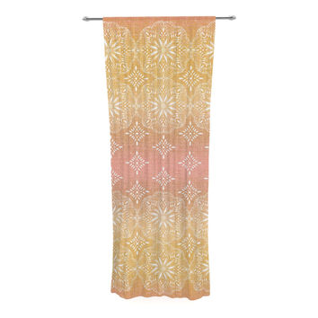 "Suzie Tremel ""Medallion Blush Ombre"" Pink Decorative Sheer Curtain"