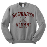 Hogwarts Alumni (Maroon Ink) Funny Harry Potter Crewneck Sweater -  Funny Quidditch Shirt; Hogwarts Letter; Funny Shirt; Funny Tee;