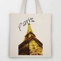The Eiffel tower Tote Bag by Nicklas Gustafsson | Society6