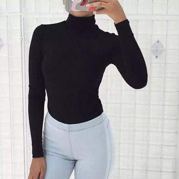 Long Sleeve T-shirts Simple Design Slim Bottoming Shirt [8915322310]