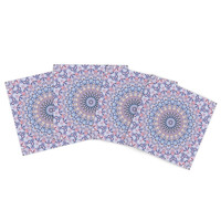 "Iris Lehnhardt ""Summer Lace II"" Circle Purple Indoor/Outdoor Place Mat (Set of 4)"