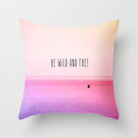 Wild and Free Throw Pillow by MN Art | Society6