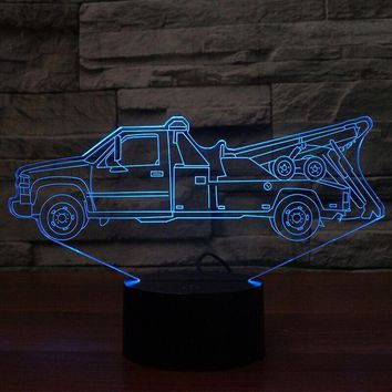Towing Truck 3D Lamp 8 Changeable Colors big size [FREE SHIPPING]
