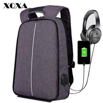 Men Women Backpack USB Anti Theft Computer Bag Rucksack Water-resistant School Backpack Bag Unisex Laptop Backpack