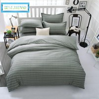 BEST.WENSD comforter set Jacquard and stripe style of king queen size bedding sets quilt cover bed sheet pillowcases bedclothes