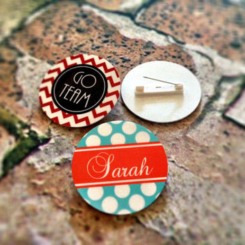 Personalized Pins Buttons by rrpage on Etsy