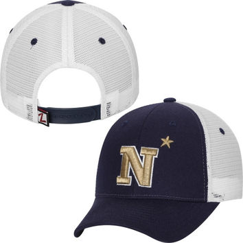 Navy Midshipmen Zephyr Basic Trucker Snapback Adjustable Hat – Navy Blue