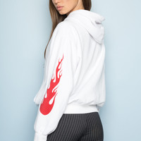 Christy Flames Hoodie - Sweaters - Clothing