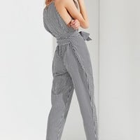UO Gingham Tie-Belt Jumpsuit | Urban Outfitters