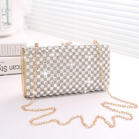 Stylish Rhinestone Mini Shoulder Bag Clutch [6580856647]