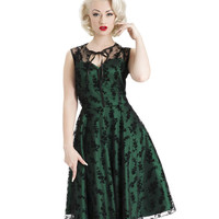 Voodoo Vixen Emerald Green Taffeta Dress