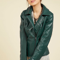 Moto You Than Meets the Eye Jacket in Pine | Mod Retro Vintage Jackets | ModCloth.com