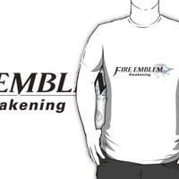 Fire Emblem Awakening English custom white logo t-shirt