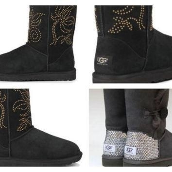DCCK8X2 Custom UGG Boots made with Swarovskisi Adelaide Free: Shipping, Repair Kit, Cleaning K