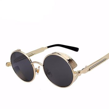 Round Steampunk Fashion Sunglasses