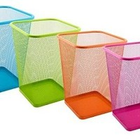 Vibrant Mesh Trash Can Square