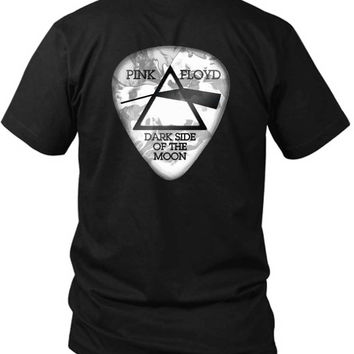 Pink Floyd Dark Side Of The Moon Guitar Picker 2 Sided Black Mens T Shirt