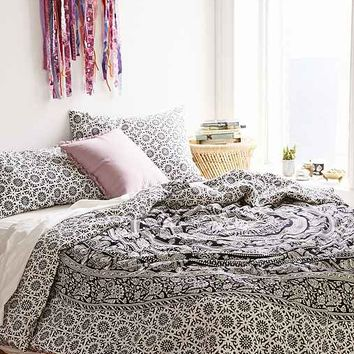 Magical Thinking Black + White Elephant Duvet Cover