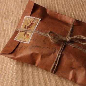 10 pcs/lot 16*11cm Vintage Fire paint Kraft Paper Envelopes Storage Bag Scrapbooking Paper For Card Gift Free shipping