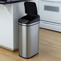 11 Gallon Kitchen Infrared Touchless Lid Trash Can