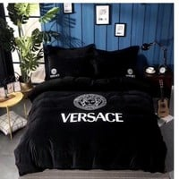 Versace Bedding Set Black White queen size