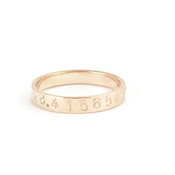 Latitude & Longitude Personalized Thin Gold Stacking Ring, Engraved 14K Gold Ring, Coordinate Ring, GPS Ring, Customized Jewelry