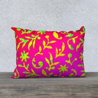 """Ornate Abstract 20"""" x 14"""" Pillow Case"""