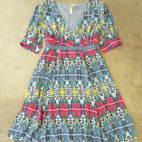 Artisan Ikat Dress in Gray [2689] - $34.00 : Vintage Inspired Clothing & Affordable Fall Frocks, deloom   Modern. Vintage. Crafted.