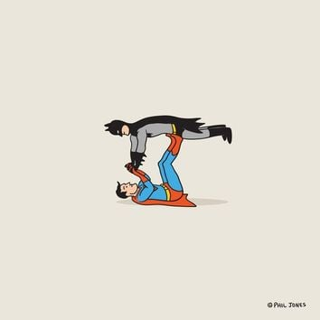 """Supermaaaaannnnnnn!"" - Art Print by Phil Jones"