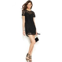 MICHAEL Michael Kors Womens Lace Hi-Low Cocktail Dress