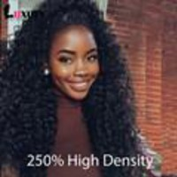 Black Women Brazilian Natural Loose Curly Front Lace Wig