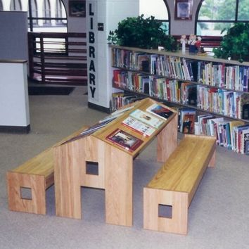 $1,200.00 child's reading table by newberry on Etsy