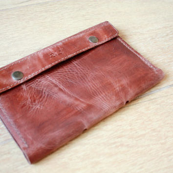 Travel document holder, leather wallet, cognac wallet, travel document wallet, engrave wallet, travel document organize, travel wallet