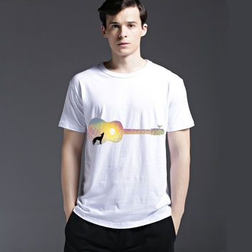 Slim Summer Music Round-neck Casual Men's Fashion Cotton Short Sleeve Tee T-shirts = 6450308163