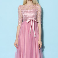 Sakura Fairy Tulle Prom Dress Pink