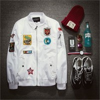 Men's Jackets Bomber Air White high quality