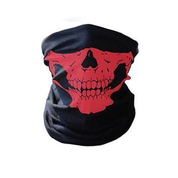 Motorcycle SKULL Ghost Face Windproof Mask Outdoor Sports Warm Ski Caps Bicyle Bike Balaclavas Scarf