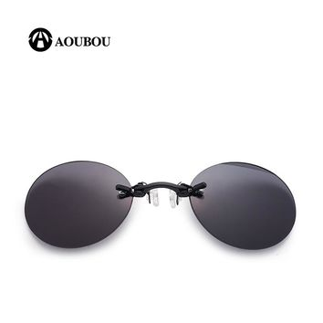 Retro Clip Nose Sunglasses UV400