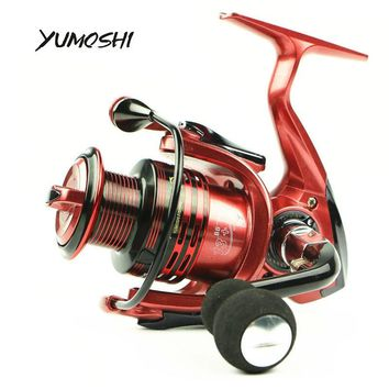 Yumoshi Fishing Reels XF1000-7000 Wire Cup 14 BB 4.7:1 Gear Ratio Antiskid Rocker Arm Spinning Wheel Sea Fishing Tackle Pesca
