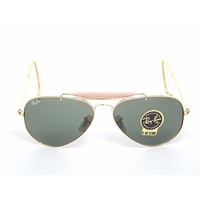 Cheap Genuine Ray Ban RB3030 L0216 Arista Gold w/Crystal Green G15 58mm Sunglasses