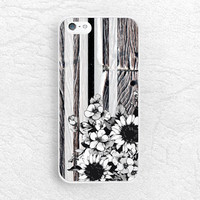 Vintage striped Floral  Wood print Phone Case for iPhone, Sony z1 z3 compact, LG g3 g2, HTC one m7 m8, Moto X Moto G black & white cover -S5