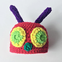 Crochet Caterpillar Hat cake smash outfit boy, Hungry Caterpillar cake smash outfit, baby outfits for pictures, baby outfit for photos, baby