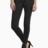 Laura Low Rise Utility Cargo Skinny Jeans