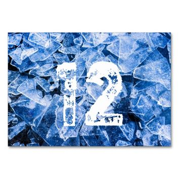 Blue cold ice card