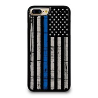 THIN BLUE LINE FLAG iPhone 4/4S 5/5S/SE 5C 6/6S 7 8 Plus X Case