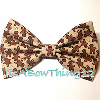 Gingerbread Men Holiday Bow